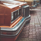 Old retro or vintage car front side. Vintage effect processing Stock Photo