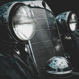 Old retro or vintage car front side. Vintage effect processing Royalty Free Stock Photos