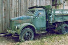 Old retro vintage car, GAZ-51. Made in USSR. Travel photo 2019 royalty free stock photo