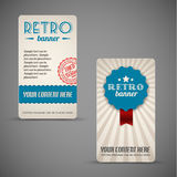 Old retro vintage grunge cards Royalty Free Stock Photo