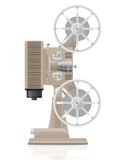 Old retro vintage movie film projector vector illustration Royalty Free Stock Image