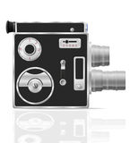 Old retro vintage movie video camera vector illustration Royalty Free Stock Photography