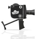 Old retro vintage movie video camera vector illustration Stock Image