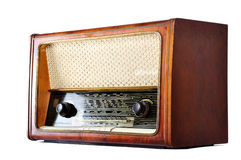 Old, retro, vintage radio, isolated on white Royalty Free Stock Images