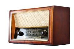 Old, retro, vintage radio, isolated on white Royalty Free Stock Images
