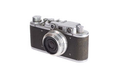 Old retro vintage rangefinder camera Royalty Free Stock Images