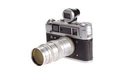 Old retro vintage rangefinder camera Royalty Free Stock Photography