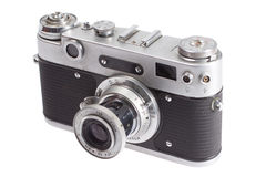 Old retro vintage rangefinder camera Royalty Free Stock Photo