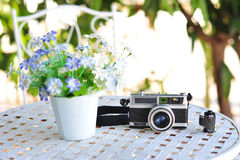 The old retro vintage of rangefinder film camera style is the cl Royalty Free Stock Images