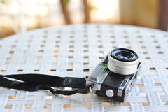 The old retro vintage of rangefinder film camera style is the cl Stock Photo