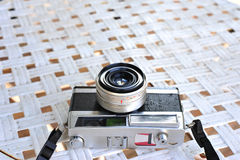 The old retro vintage of rangefinder film camera style is the cl Royalty Free Stock Photo