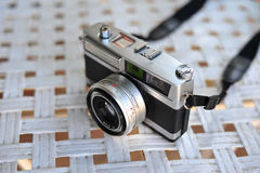The old retro vintage of rangefinder film camera style is the cl Stock Images