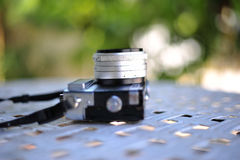 The old retro vintage of rangefinder film camera style is the cl Stock Photos