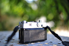 the old retro vintage of rangefinder film camera style is the cl Stock Photography