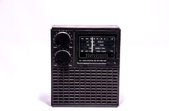Old Retro Vintage 70's Radio Royalty Free Stock Photography