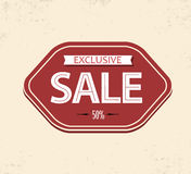 Old retro vintage sale label Stock Image