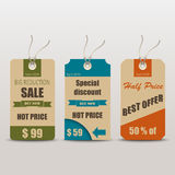 Old retro vintage tag for sale Royalty Free Stock Images