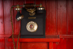 Old retro vintage telephone instrument royalty free stock photography