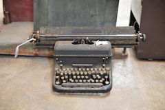 old retro vintage type writer so classic manual machine technolo Stock Photo