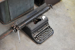old retro vintage type writer so classic manual machine technolo Royalty Free Stock Image