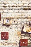 Old retro vintage wall clock stock photography