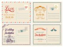 Old or retro,vintage wedding invitation empty card Royalty Free Stock Image