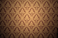 Old retro wallpaper in sepia Stock Photos