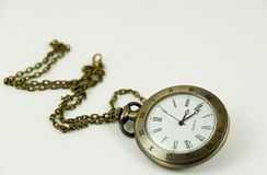 Old retro watch on white background.  Stock Image