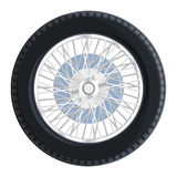 Old retro wheel with spokes Royalty Free Stock Photography