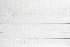 Old retro white painted wooden planks Stock Photo