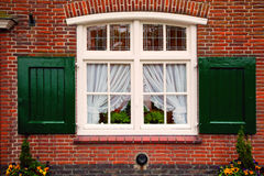 Old retro window with shutters Stock Images