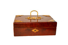 Old retro wooden casket Royalty Free Stock Images