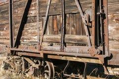 Old retro wooden wagon closeup Royalty Free Stock Photos