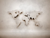 Old retro world map Royalty Free Stock Images