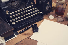 Old retro writers desk Royalty Free Stock Photography