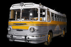 Old retro yellow bus. Royalty Free Stock Photography