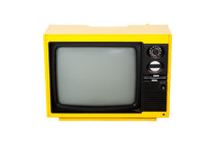 Old retro yellow television Stock Images