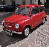 Old retro yugoslavian car. The Zastava 750 (almost known as Fico) was a car made by the Yugoslavian car maker Zavod Crvena Zastava. It was a version of the Fiat Stock Image