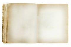 Old revealed notebook. Isolated on white background Stock Photography