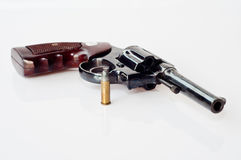 Old  revolver. Handgun six bullet Stock Photo