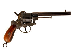 Old revolver. Old western style arm in operation Stock Photography