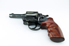 Old revolver with bullets Stock Photo