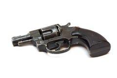 Old revolver gun isolated over white. Old revolver gun on white Stock Images