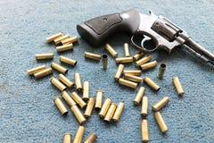 Old revolver gun Stock Image