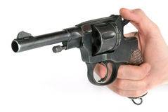 Old Revolver In Hand Royalty Free Stock Images