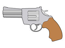 Old revolver pistol Royalty Free Stock Images