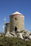 Old Rhodes windmills, Greece Royalty Free Stock Photos