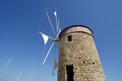 Old Rhodes windmills, Greece Royalty Free Stock Images