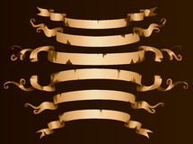 Old  ribbon banner set Royalty Free Stock Image