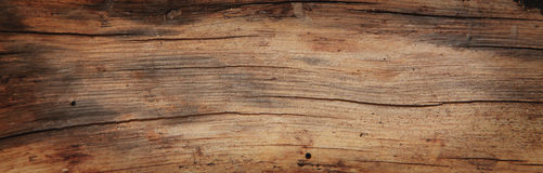 Old Rich Wood Grain Texture Background With Knots Brown